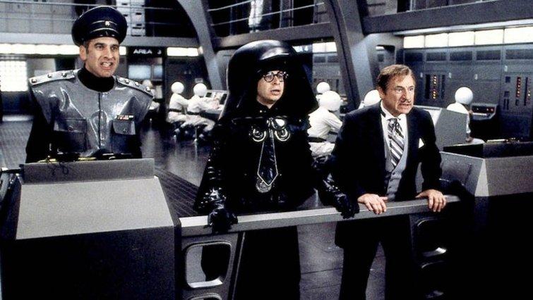 """George Wyner, Rick Moranis, and Mel Brooks in """"Spaceballs"""""""