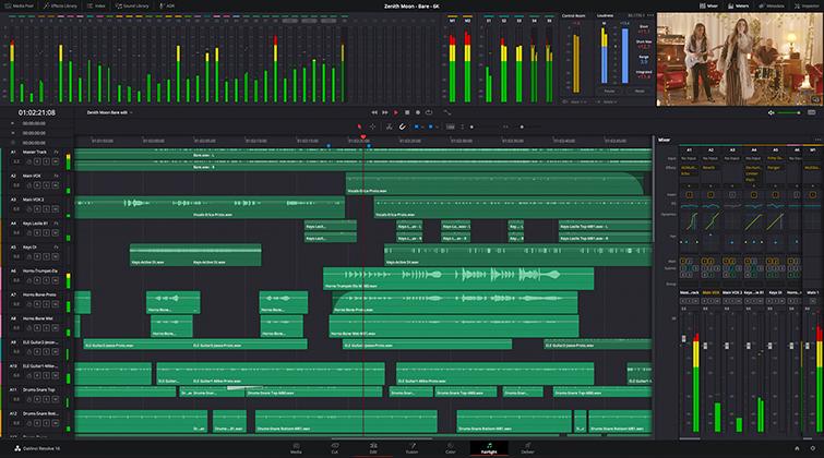 Blackmagic Design Releases New DaVinci Resolve 16.2 — New Fairlight Features