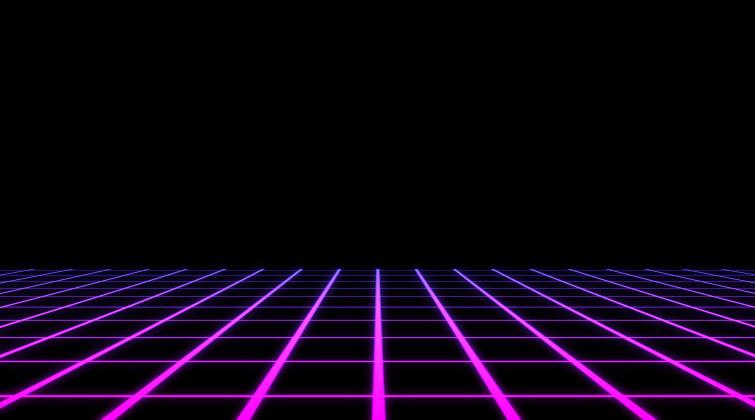 Retrowave Background Loop Tutorial Floor Grid