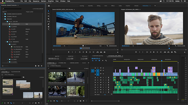 Premiere Pro's New Productions Feature: Evolution of the Project File — What Productions Offers