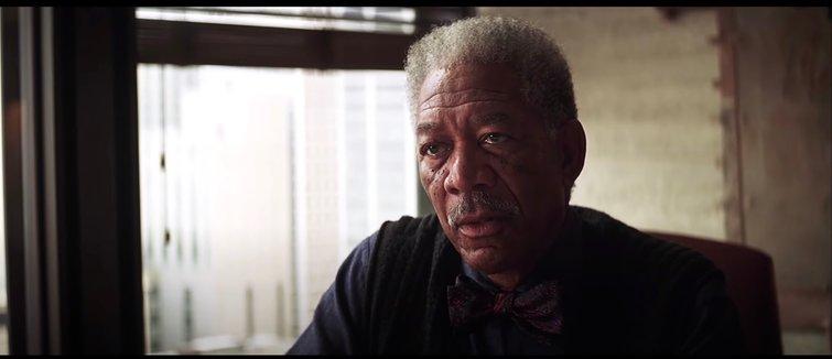 "Morgan Freeman in ""The Dark Knight"""