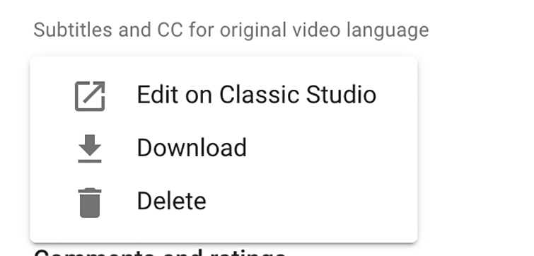 How to Add Subtitles to YouTube Videos — Edit on Classic Studio