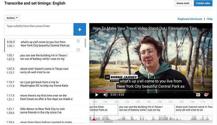 How to Add Subtitles to YouTube Videos — YouTube Studio Subtitles Editor