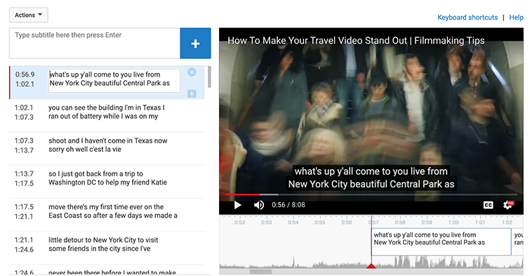 How to Add Subtitles to YouTube Videos — Edit Text