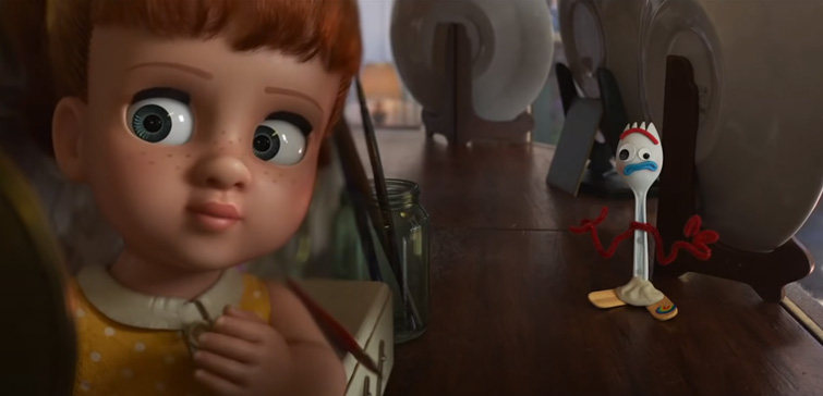 Split-field diopter in Toy Story 4
