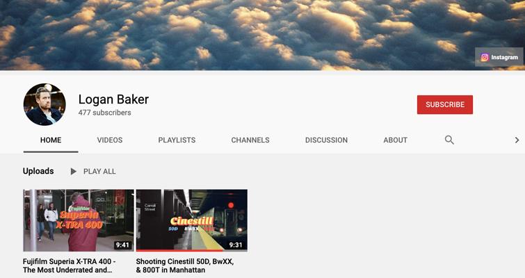 Logan Baker's YouTube Channel