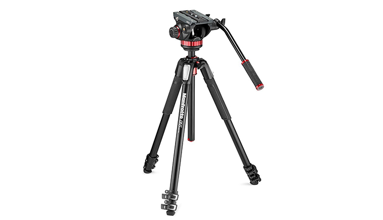 Manfrotto 502AH Video Head and MT055XPRO3 Aluminum Tripod Kit