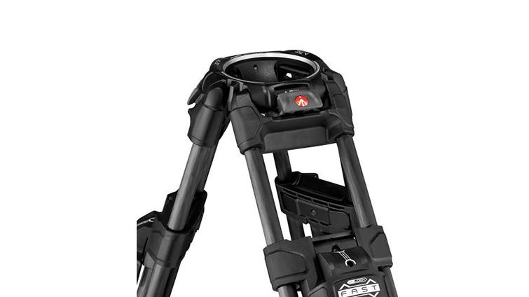 Manfrotto 645 Fast Twin Leg Video Tripod With Ultra-LockMechanism — Carbon Fiber