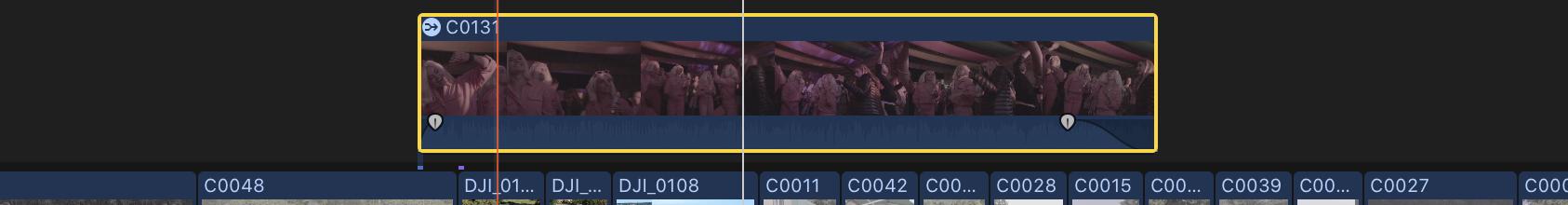 Custom FCPX Keyboard Shortcut: Option+Z — Set Volume to Silence