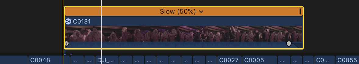 Custom FCPX Keyboard Shortcut: Cmd+S — Retime: Slow 50%