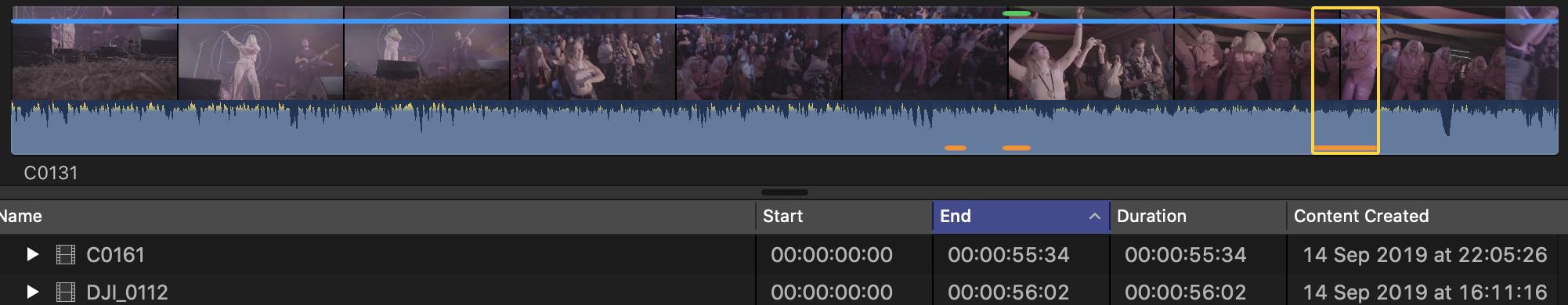 Custom FCPX Keyboard Shortcut: Y — Toggle Filmstrip/ List View