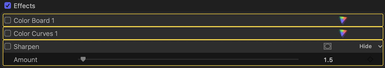 Custom FCPX Keyboard Shortcut: Toggle Effects On/Off