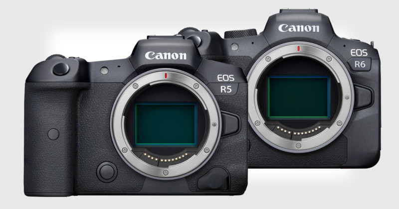 Canon EOS R5 and EOS R6