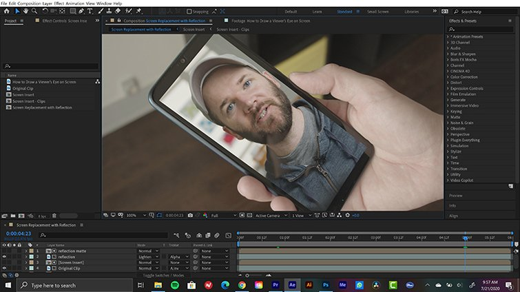 Screen Replaced in After Effects