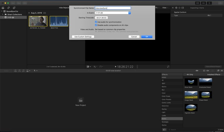 Final Cut Pro X: Name Your Synchronized Clip