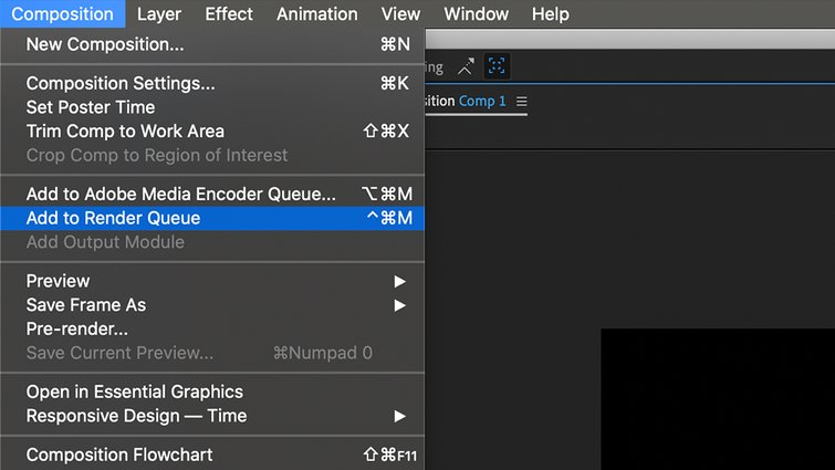 After Effects: Render Queue