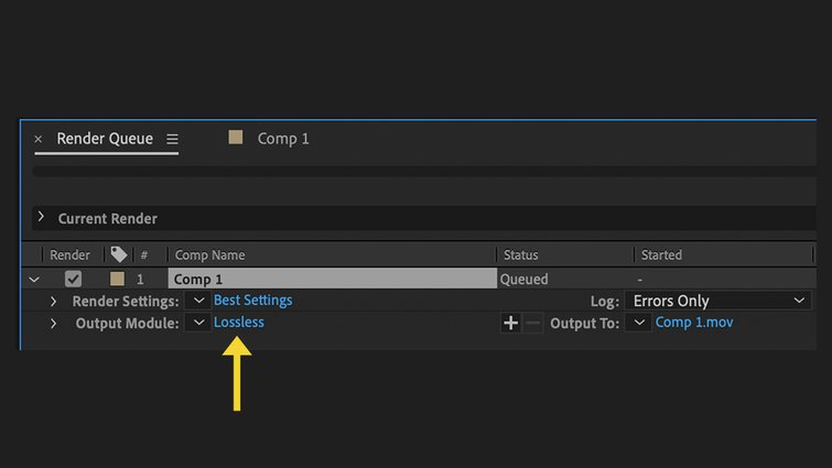 After Effects: Lossless
