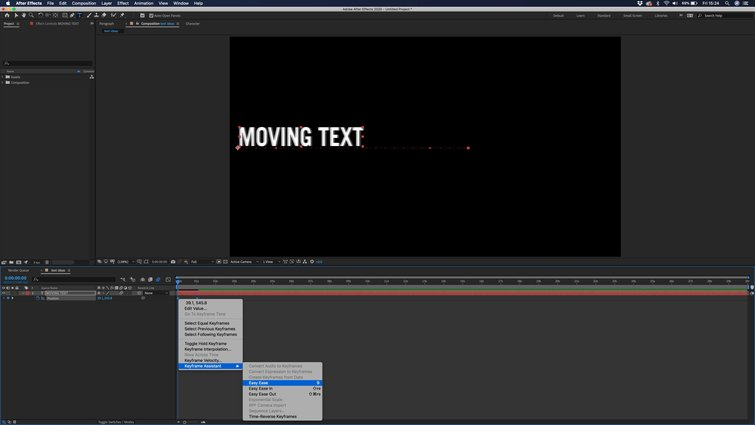 Adobe After Effects: Easy Ease