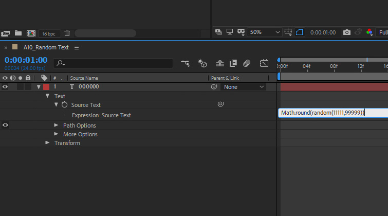 After Effects: Random Numbers