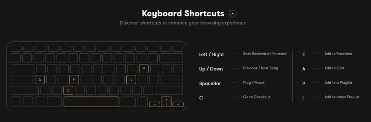 New PremiumBeat Monthly Music Subscription: Keyboard Shortcuts