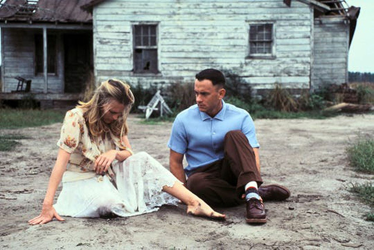 Robin Wright and Tom Hanks in Forrest Gump