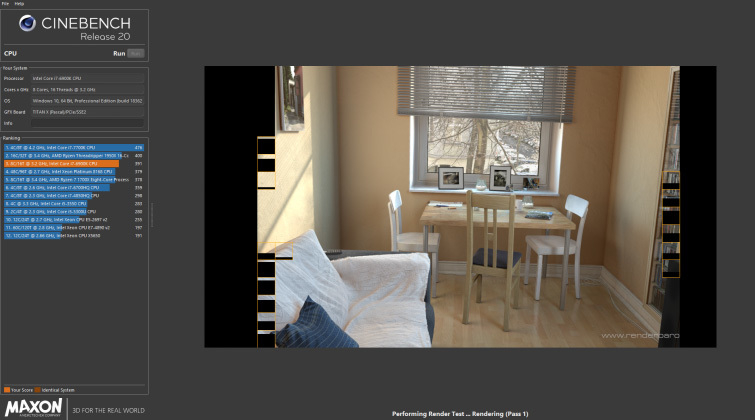 Video Editor Benchmark Tests: Cinebench