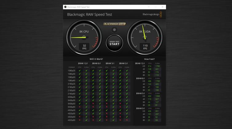 Video Editor Benchmark Tests: Blackmagic RAW Speed Test