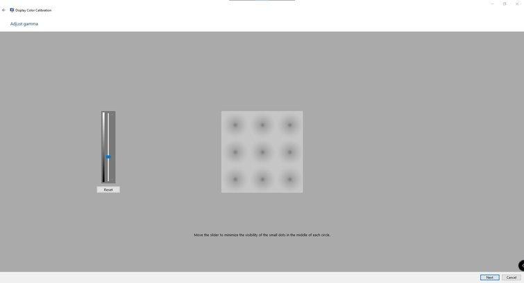 Calibrating Monitors with Windows: Adjust Slider