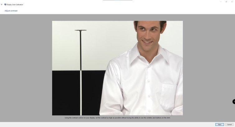 Calibrating Monitors with Windows: Adjust Contrast