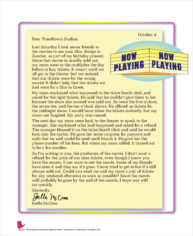 Letter to Tinseltown Studios