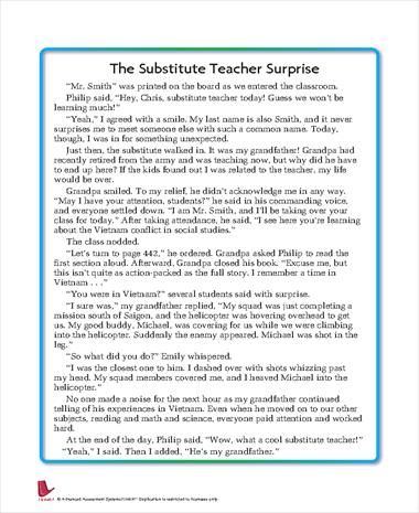 The Substitute Teacher Surprise