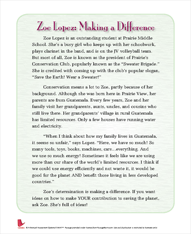 Zoe Lopez: Making a Difference