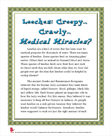 Leeches: CreepyCrawlyMedical Miracles?
