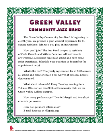 Green Valley Community Jazz Band