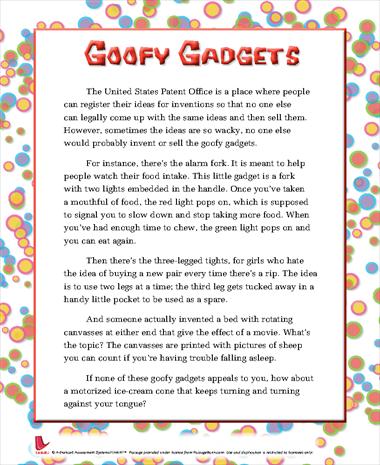 Goofy Gadgets