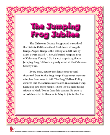 The Jumping Frog Jubilee