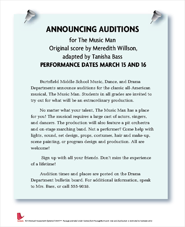 Announcing Auditions for The Music Man