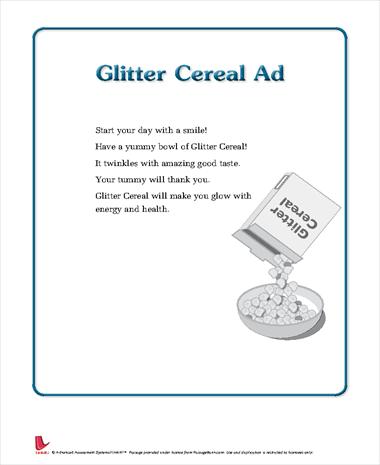 Glitter Cereal Ad