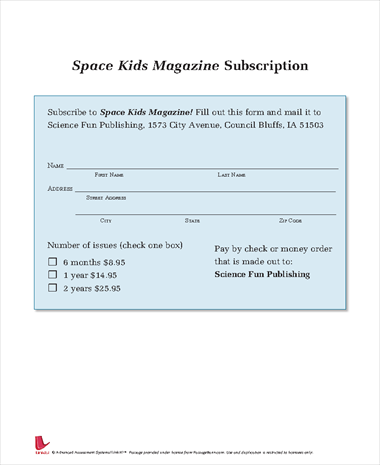 Space Kids Magazine Subscription