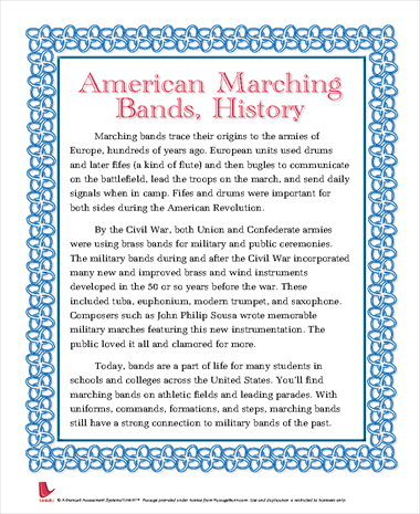 American Marching Bands, History