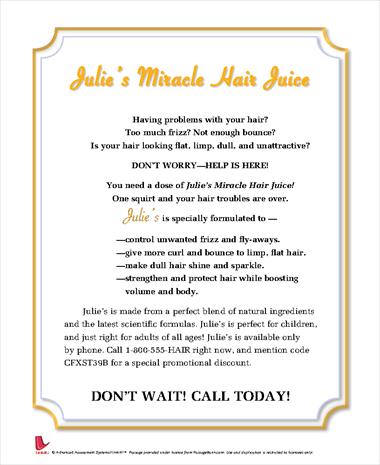 Julies Miracle Hair Juice