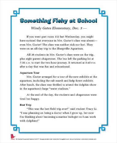 Something Fishy at School