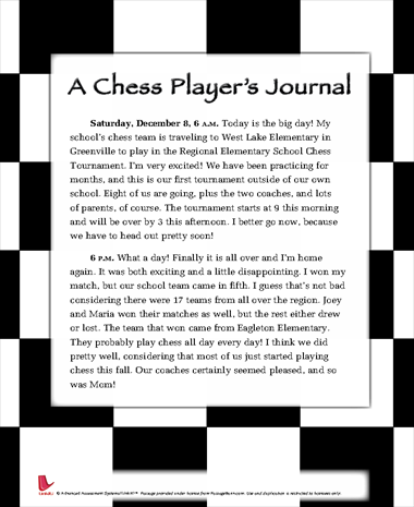 A Chess Players Journal