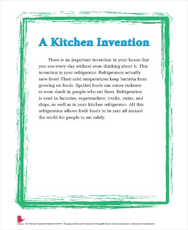 A Kitchen Invention