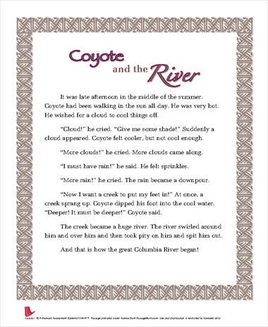 Coyote and the River