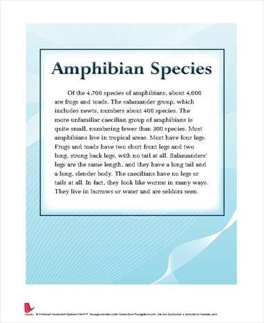 Amphibian Species