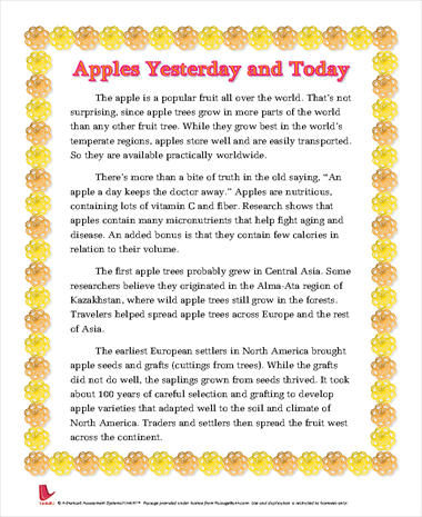 Apples Yesterday and Today