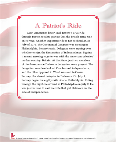 A Patriots Ride