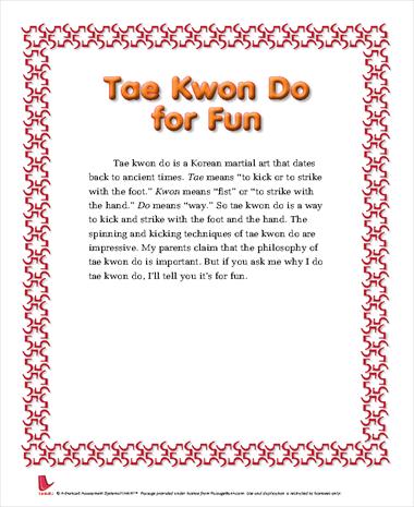 Tae Kwon Do for Fun