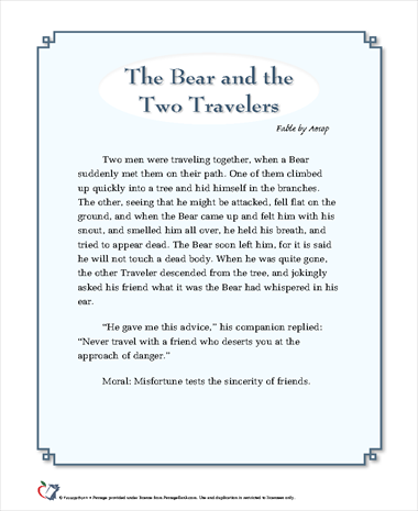 The Bear and the Two Travelers